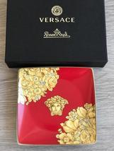 Rosenthal Versace Bowl Square Flat Medusa Rhapsody Red - $75.00