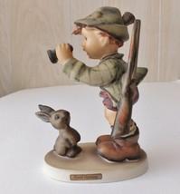 Good Hunting Goebel Hummel Figurine TMK4 #307 Boy Hunting With Binoculars - $113.60