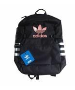 ADIDAS ORO Classic Backpack Zip Top Trefoil Black 3 Stripes Pink White N... - $45.00