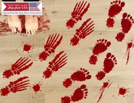 42PCS Halloween Bloody Footprints Floor Decals Clings Stickers Party Dec... - $15.94