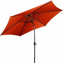 9 ft Patio Outdoor Umbrella with Crank-Orange - $52.36