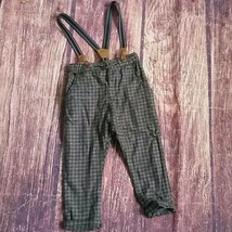 H&M check pants with suspenders sz 12-18m - $11.76
