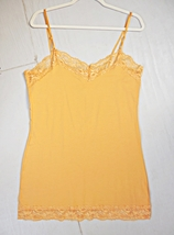 Plus Size Camisoles, Plus Size Camisole, Plus Size Lace Camisoles, Mustard, 3X