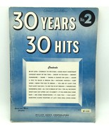 30 Years 30 Hits No. 2 1953 Songbook Paperback Miller Music Corporation Vintage - £20.94 GBP