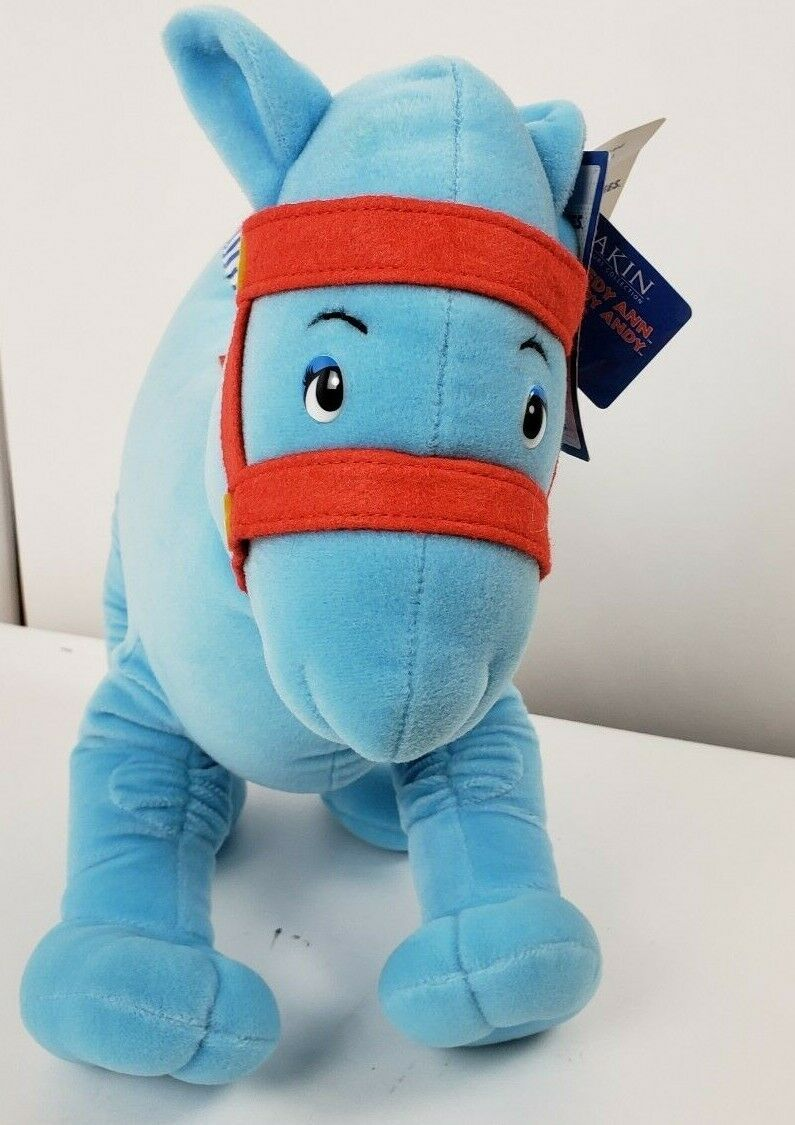 """16"""" Raggedy Ann & Andy Blue Camel Wrinkled Knees Plush Toy NEW By Applause"""