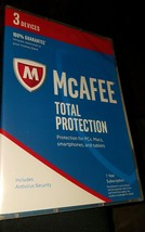 Mcafee Total Protection anti virus SECURITY SOF... - $12.00