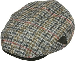 Henschel Italian Wool 5 Point Ivy Lined Faux Suede Visor And Accent Brown Gray - $50.00