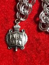 VTG Sterling ABWA American Business Women's Charm Bracelet & 1975 ΒΣΦ Heart - $59.00