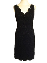 BNWT ANN TAILOR Black Lace Cut Out Back Wiggle Little Black Cocktail LBD... - $98.00