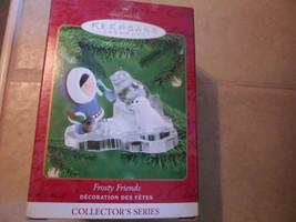 Hallmark Frosty Friends Series #2` 2000 Eskimo & Seal Ice Sculpting New In Box - $8.27
