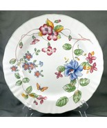 Mikasa Heirloom Chop Plate Platter White Floral Butterfly Country Classi... - $31.68