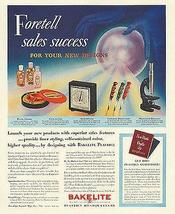 Bakelite Plastics Crystal Ball Products Design Print Foretell Sales 1939 Ad - $14.99