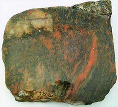 Orange Black Jasper Gemstone Slab Cabbing Rough - $4.60