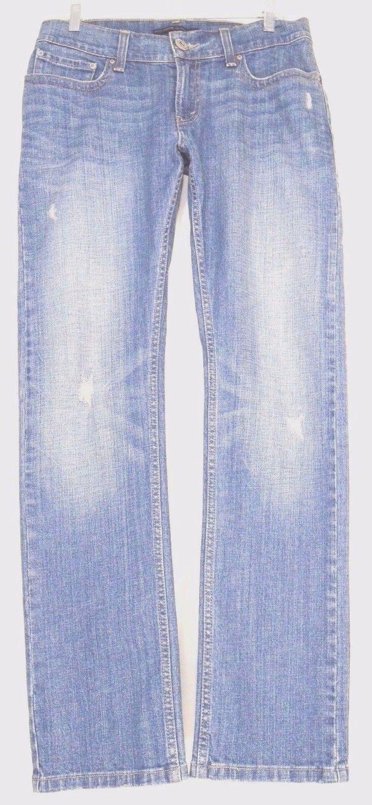 Levi 542 jeans slouch 8 x 32 low pencil flap back pockets boho long sexy W33