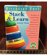 Vintage Discovery Toys #1514 STACK & LEARN Sensory Tower HTF - $35.39