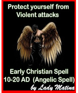 Early Christian Magic -Protection against violent attack- Ancient Angeli... - $90.00