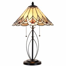 Cloud Mountain Tiffany Style Table Desk Lamp Victorian Stained Glass Hom... - $99.99