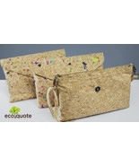 EcoQuote Envelope Design Sling Bag Handmade Cork Eco Friendly Material F... - $40.80