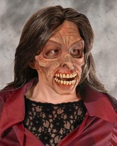 Living Dead Mask Woman Zombie Wig Mean Ugly Scary Creepy Halloween Costu... - $91.46 CAD