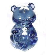 Fenton Blue Glass Teddy Bear Cub Figurine Hand ... - $36.95
