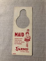 c1960s Stardust Las Vegas Casino Hotel Maid Make Up Room Door Knob Plast... - $19.79