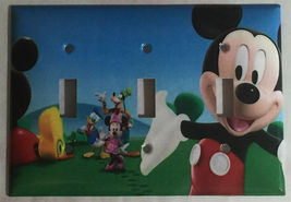 Mickey Mouse House Club Light Switch Duplex Outlet wall Cover Plate Home decor image 3