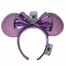 NWT Disney Parks Minnie Mouse Ears Headband Bow Lavender Lilac Purple Gl... - $22.88