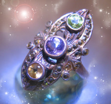 HAUNTED RING HARNESS KING'S GOLD WEALTH GOLDEN ROYAL COLLECTION OOAK MAGICK - $333.77