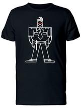 Security Guard Doodle Cartoon Men's Tee -Image by Shutterstock - $359,52 MXN+