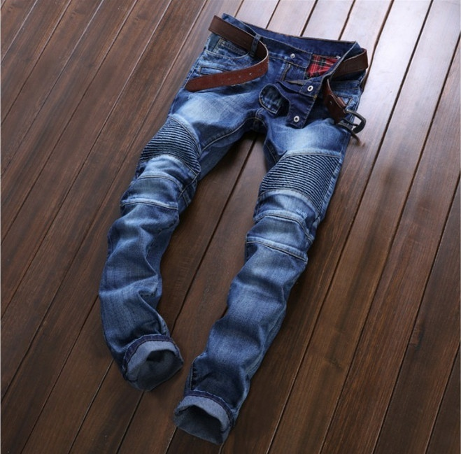 Fashion small straight jeans for men top paint skinny jean mens long pants youth