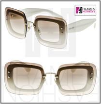 MIU MIU REVEAL Shield Square Sunglasses MU02RS Ivory Brown Gradient 02R ... - $204.93