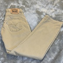 Boy's Size 10 Reg 25 X 25 Levi's Strauss Khaki Tan Denim Jeans 514 Straight EUC - $22.00