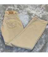 Boy's Size 10 Reg 25 X 25 Levi's Strauss Khaki Tan Denim Jeans 514 Straight EUC - $22.00