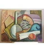 Mid Century Original Oil Painting Frederick A Frederickson Still Life  S... - $125.00