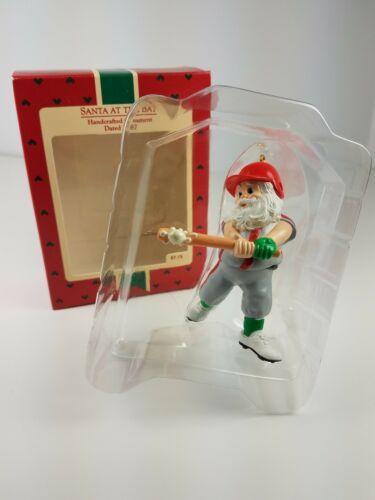 Hallmark 1987 Keepsake Ornament Santa at the Bat Snow Baseball Player LT#111