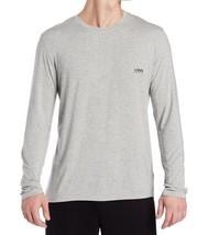 Hugo Boss HERREN Mode Langärmlig Modal Rundhals Hellgrau T-Shirt - $32.97