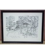 "Custom Made ""Wight Grist Mill"" Picture Charles H. Overly 11 1/2in x 7 1/... - $33.38"