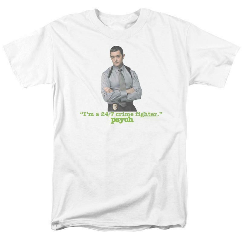 I'm a 24/7 Crime Fighter T-shirt Psych TV series graphic tee NBC590