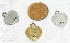 FROM THE BOTTOM OF MY HEART FINE PEWTER PENDANT CHARM - 13x16.5x1.5mm image 3