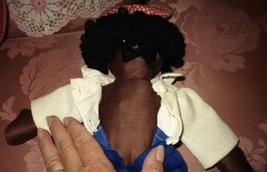 "BLACK AFRICAN AMERICAN RAGGEDY ANDY DOLL HANDMADE CLOTH 18"" CLEAN - $14.95"