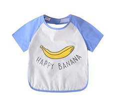 Comfortable Baby Waterproof Feeding Bib Apron, Banana, 90-100cm Height