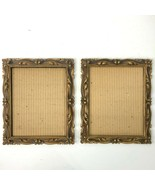 Regal MetalCraft 2 Vintage Ornate 8x10 Photo Frame Bundle 1972 USA NO GL... - $46.22