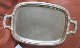 """W & S BLACKINTON Silver Plate FOOTED TRAY W/HANDLES SILVER FLORAL 20"""" X ... - $349.90"""