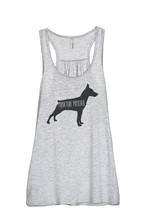 Thread Tank Miniature Pinscher Dog Silhouette Women's Sleeveless Flowy Racerback - $24.99+