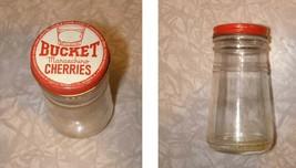 Bucket Maraschino Cherries Jar Vintage Food Package - $16.99