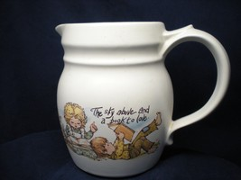 McCoy Pottery Pitcher Happy Time Pattern The Sky Above And A Book To Lov... - $17.82