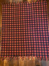 Vtg Pendleton Wool Plaid Throw Blanket Fringe Red Green Blue Christmas 5... - $69.29
