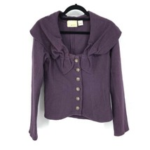 Anthropologie Guinevere Women's Size Small Wool Cardigan Sweater Purple  - $37.39
