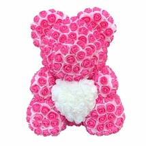 New Artificial 40cm Teddy Bear Heart  Flower Rose Bear For Women Valenti... - $32.99
