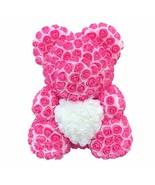 New Artificial 40cm Teddy Bear Heart  Flower Rose Bear For Women Valenti... - $32.99